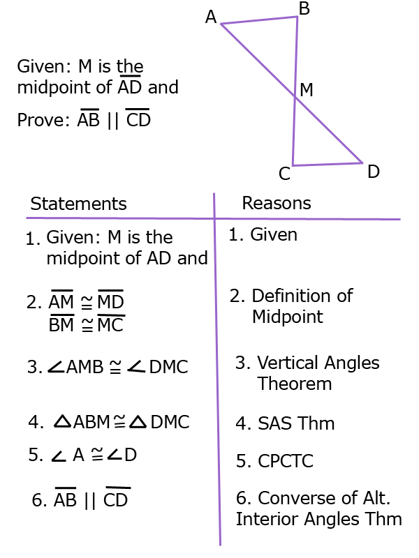 Proving Lines Parallel with Triangle Congruence SSS SAS AAS