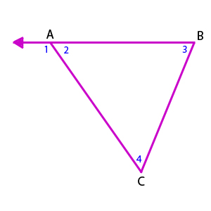 Prove exterior angle theorem home decor for Exterior angle theorem